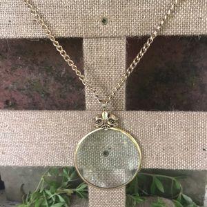 Vintage Avon Magnifying Glass Necklace Pendant